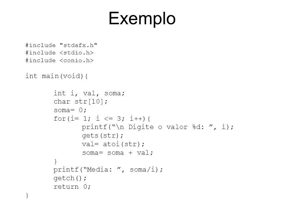 Exemplo #include