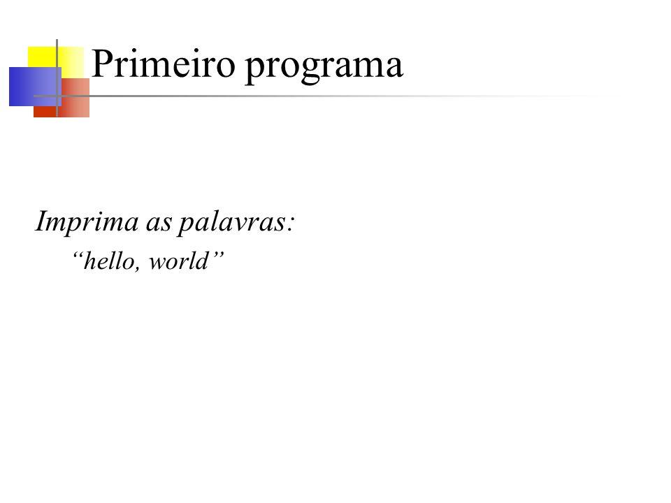 Primeiro programa – obstáculos Aonde criar o texto do programa.