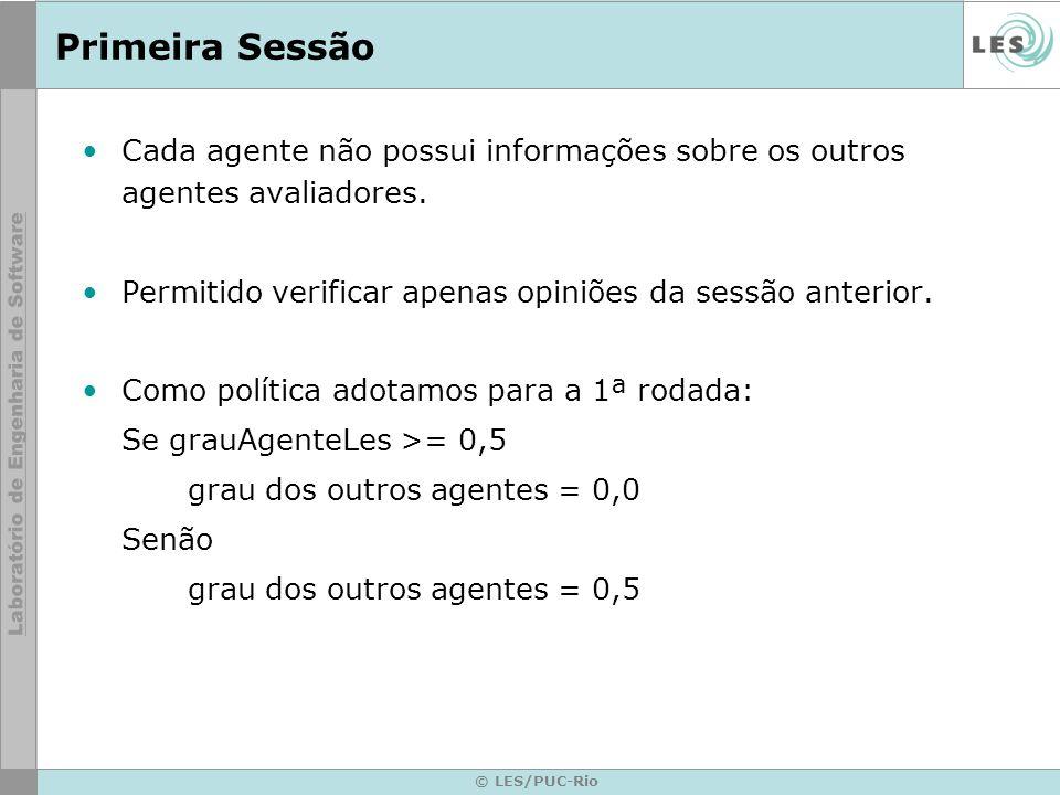 © LES/PUC-Rio Primeira Sessão Cada agente não possui informações sobre os outros agentes avaliadores.