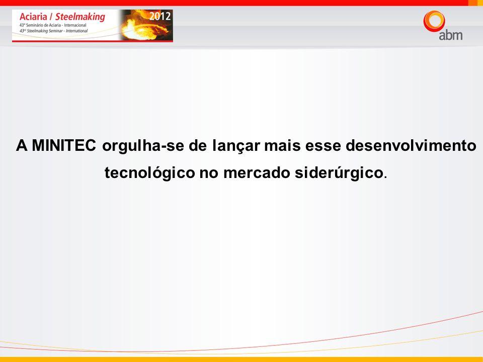 A MINITEC orgulha-se de lançar mais esse desenvolvimento tecnológico no mercado siderúrgico.