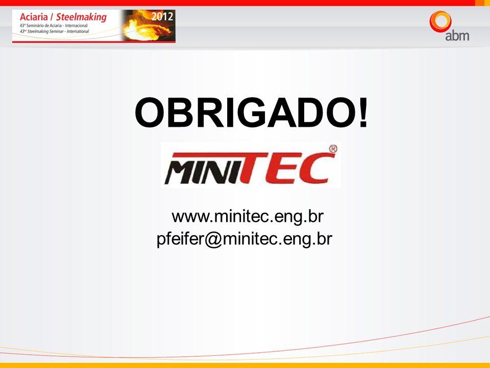 OBRIGADO! www.minitec.eng.br pfeifer@minitec.eng.br