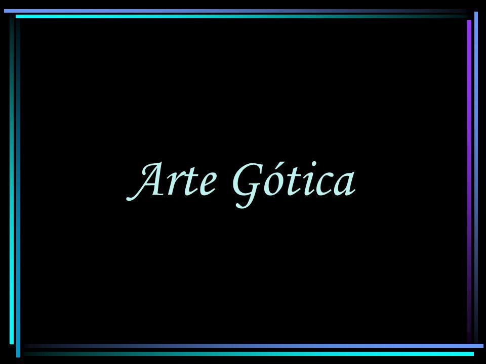 Arte Gótica - Arquitetura Vitrais Eram pintados e decorados; Neles se ensinava ao povo, por meio da mágica luminosidade de suas cores, as histórias e relatos contidos nas Sagradas Escrituras.