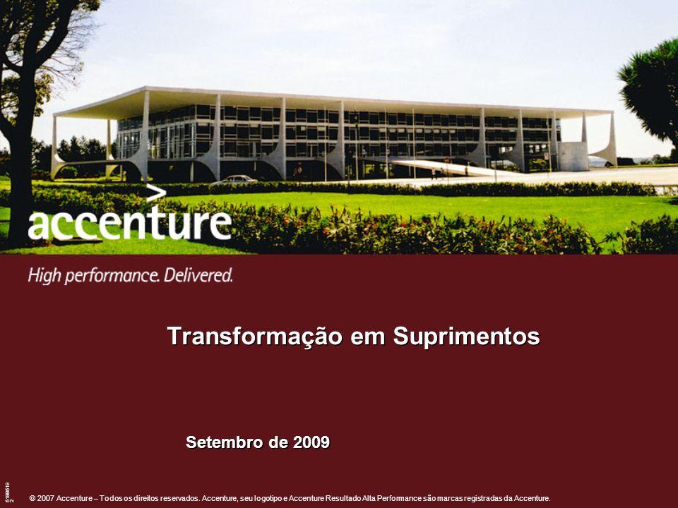 © 2007 Accenture – Todos os direitos reservados. Accenture, seu logotipo e Accenture Resultado Alta Performance são marcas registradas da Accenture. 5