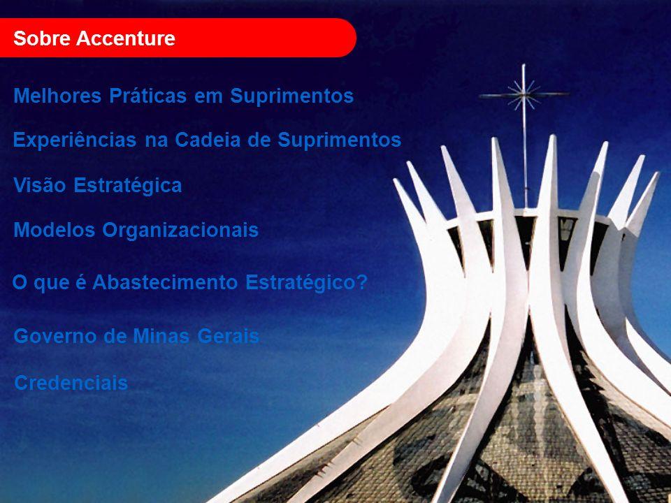 Sobre Accenture Melhores Práticas em Suprimentos Experiências na Cadeia de Suprimentos Governo de Minas Gerais O que é Abastecimento Estratégico? Cred