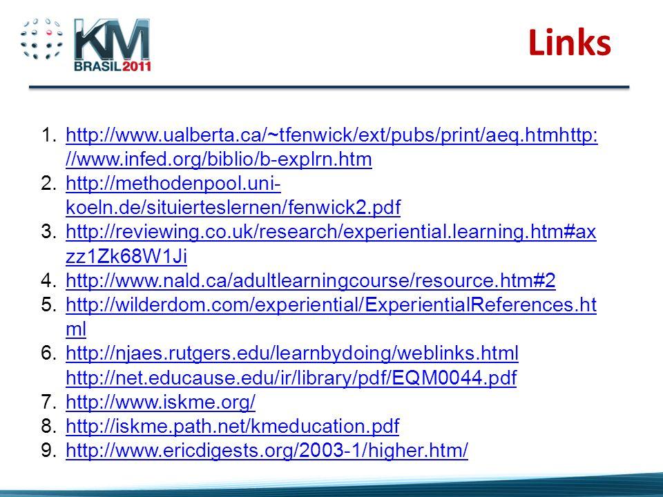 Links 1.http://www.ualberta.ca/~tfenwick/ext/pubs/print/aeq.htmhttp: //www.infed.org/biblio/b-explrn.htmhttp://www.ualberta.ca/~tfenwick/ext/pubs/prin