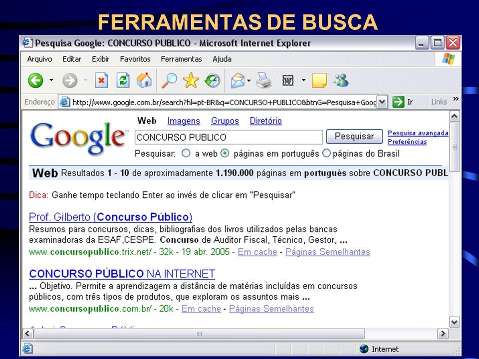 FERRAMENTAS DE BUSCA
