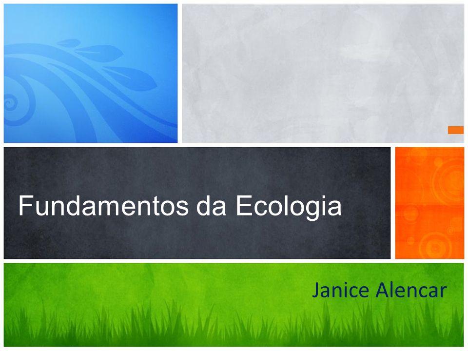 Janice Alencar Fundamentos da Ecologia