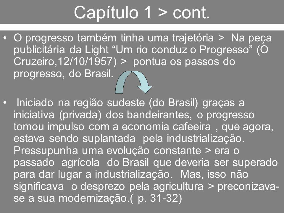 Capítulo 1 > cont. O progresso também tinha uma trajetória > Na peça publicitária da Light Um rio conduz o Progresso (O Cruzeiro,12/10/1957) > pontua