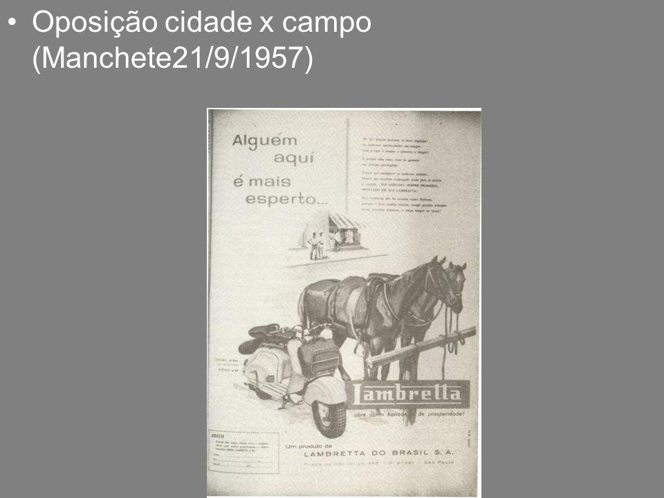 Oposição cidade x campo (Manchete21/9/1957)