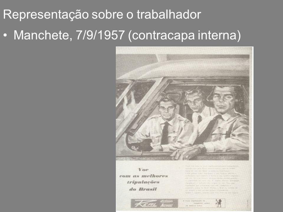 Representação sobre o trabalhador Manchete, 7/9/1957 (contracapa interna)
