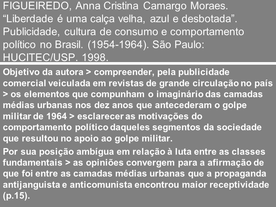 O papel das camadas médias no golpe de 1964 A autora diz que sua intenção é > compreender como os segmentos das camadas médias que apoiaram o golpe foram cooptados.