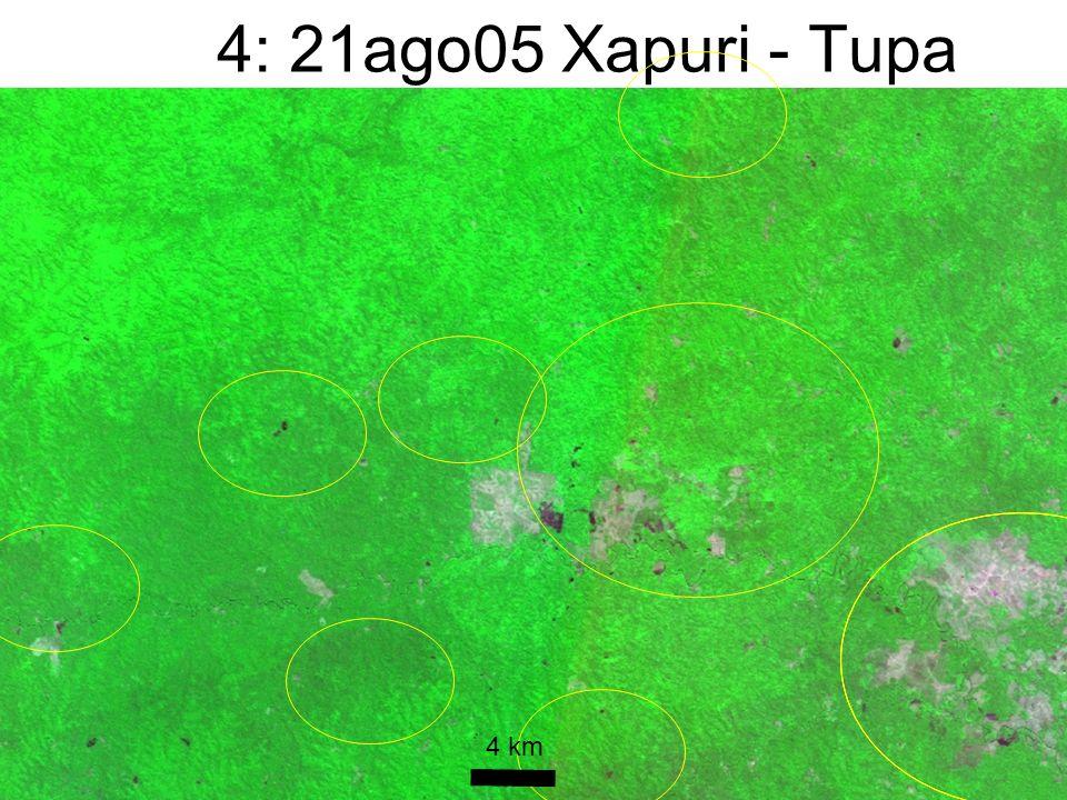 4: 21ago05 Xapuri - Tupa 4 km CBERS_180_112 UFAC/PZ/SETEM/WHRC 30out05