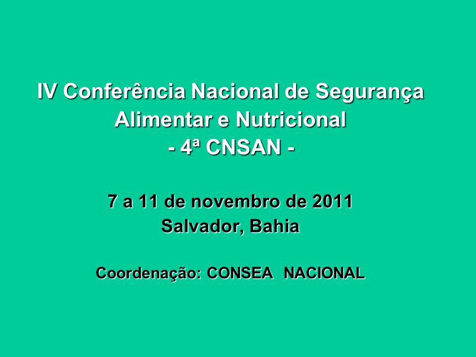 V Conferência Estadual de Segurança Alimentar e Nutricional Sustentável do Rio Grande do Sul - V CESANS RS - 15 a 17 de setembro de 2011 Porto Alegre, RS Coordenação: CONSEA-RS