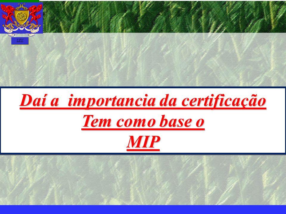 mzuppi.cursos@gmail.com Educação e Treinamento do Homem do Campo Daí a importancia da certificação Tem como base o MIP Daí a importancia da certificaç