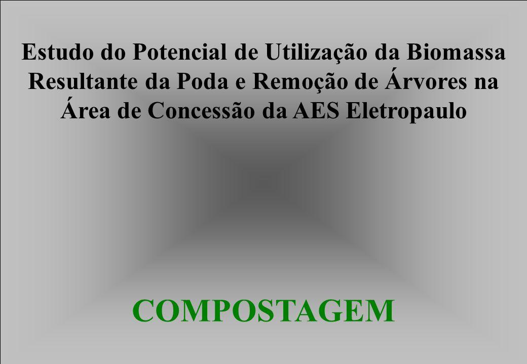 COMPOSTAGEM Estudo do Potencial de Utilização da Biomassa Resultante da Poda e Remoção de Árvores na Área de Concessão da AES Eletropaulo