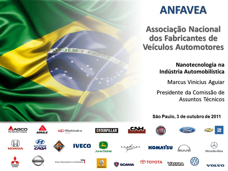 ANFAVEA Associação Nacional dos Fabricantes de Veículos Automotores São Paulo, 3 de outubro de 2011 Nanotecnologia na Indústria Automobilística Marcus