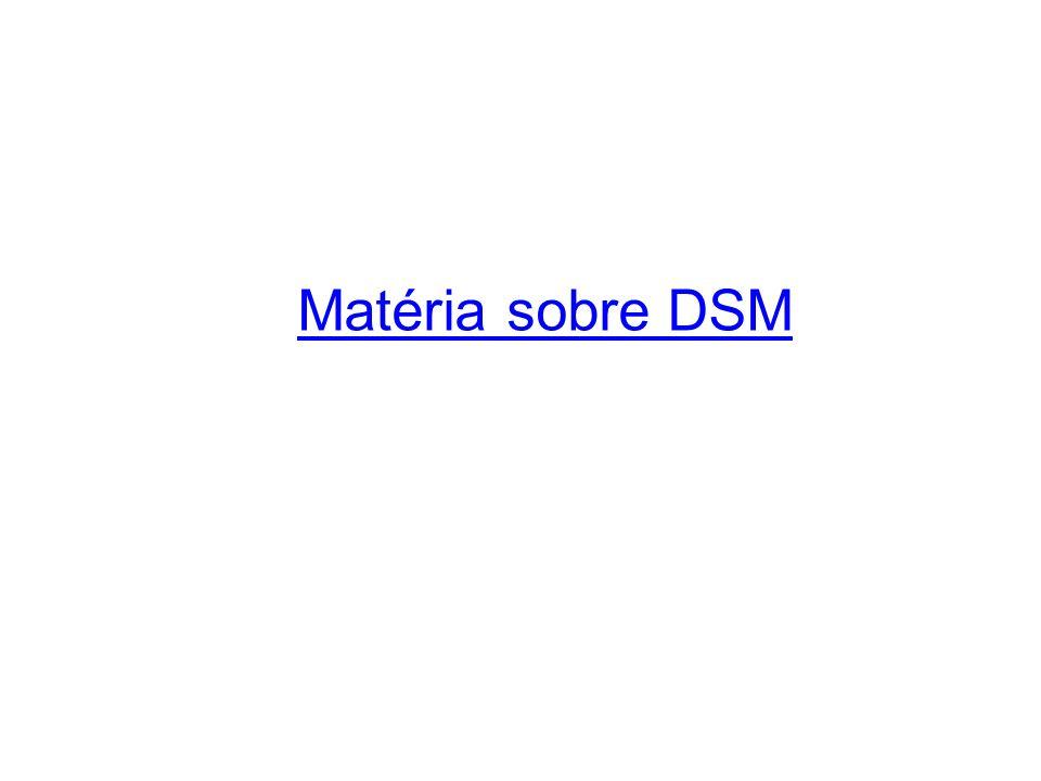Matéria sobre DSM