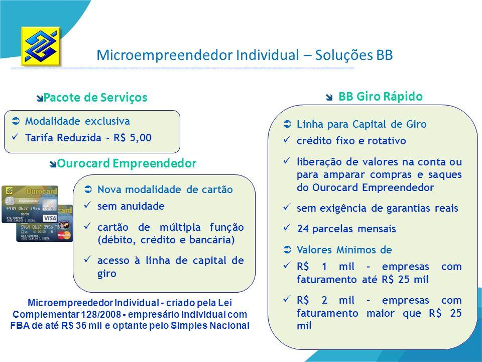 Modalidade exclusiva Tarifa Reduzida - R$ 5,00 Pacote de Serviços Ourocard Empreendedor Nova modalidade de cartão sem anuidade cartão de múltipla funç