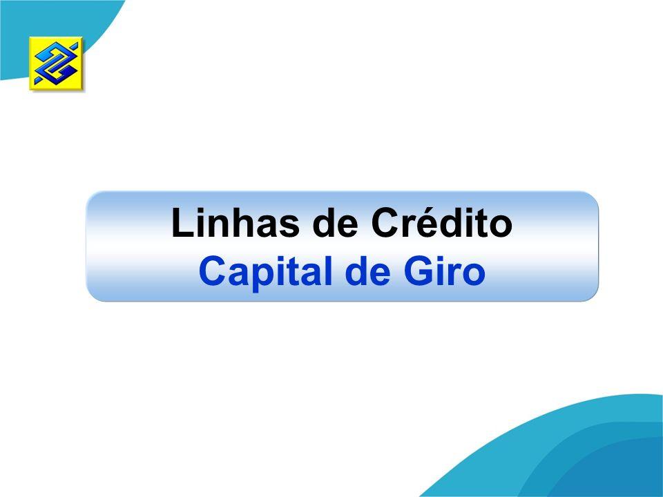 Linhas de Crédito Capital de Giro
