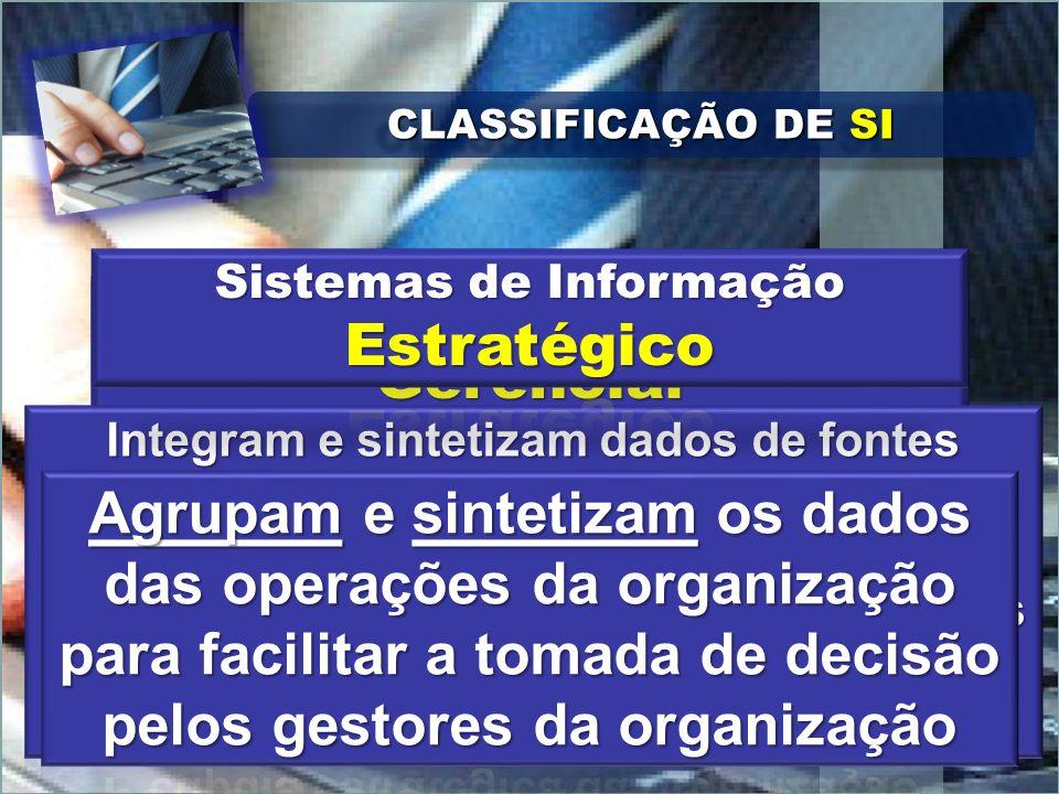 CLASSIFICAÇÃO DE SI