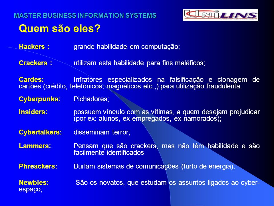 MASTER BUSINESS INFORMATION SYSTEMS MASTER BUSINESS INFORMATION SYSTEMS DOS CRIMES: VÍRUS Código Penal Art.
