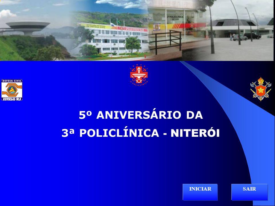 HISTÓRICO 3ª POLICLÍNICA / HINO NACIONAL ESTRUTURA ORGANIZACIONAL / 3ª POLICLÍNICA ARTIGOS DE SAÚDE PROGRAMAS DE SAÚDE AÇÕES SÓCIOAMBIENTAIS EFETIVO - FOTOS SERVIÇOS E SETORES - FOTOS HISTÓRICO PQ-RIO VÍDEO INSTITUCIONAL / HINO SOLDADO DO FOGO Sair