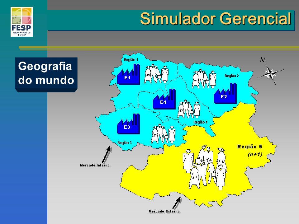 Geografia do mundo Simulador Gerencial