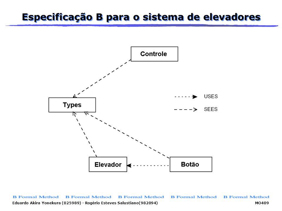 Eduardo Akira Yonekura (025989) - Rogério Esteves Salustiano(982094) MO409 Especificação B para o sistema de elevadores