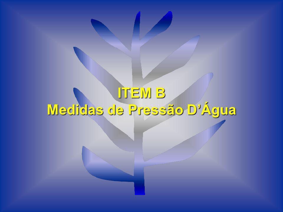 ITEM B Medidas de Pressão DÁgua