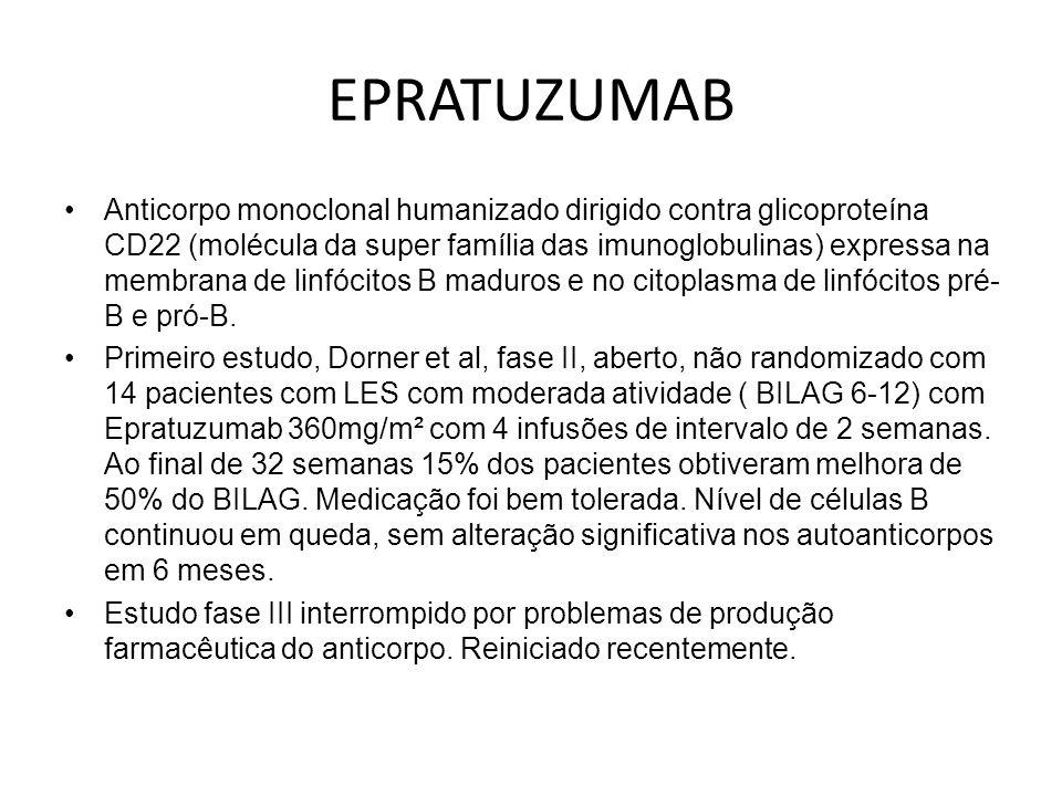 EPRATUZUMAB Anticorpo monoclonal humanizado dirigido contra glicoproteína CD22 (molécula da super família das imunoglobulinas) expressa na membrana de