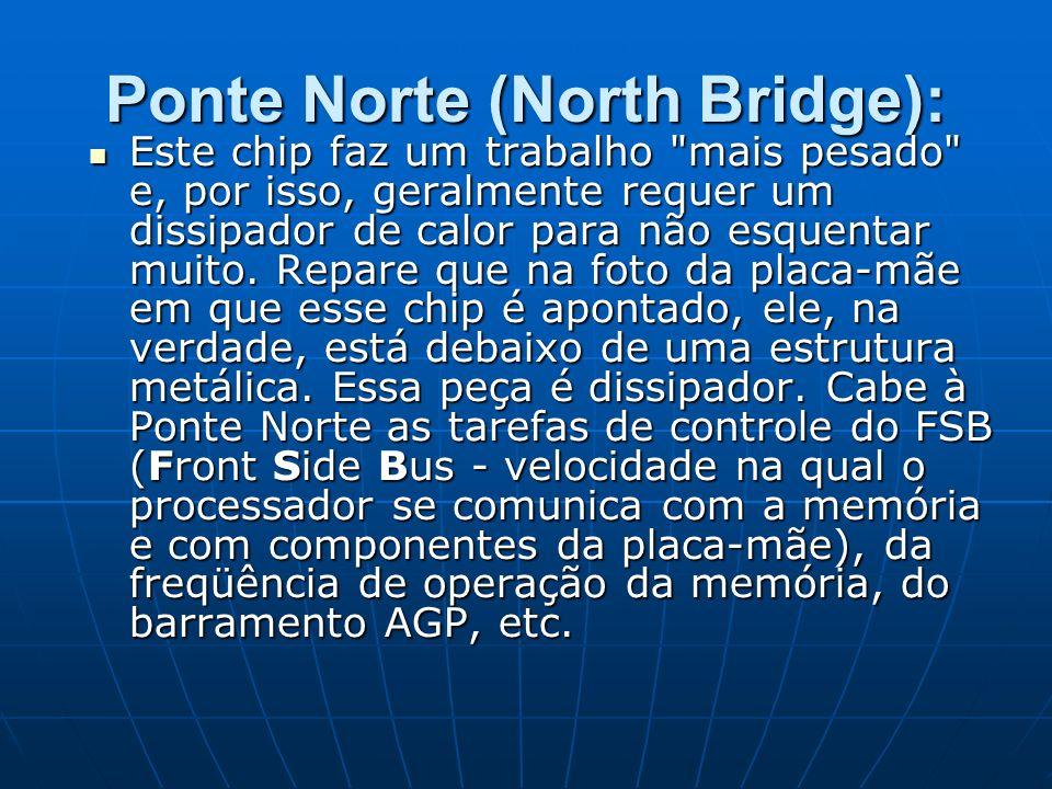 Ponte Norte (North Bridge): Este chip faz um trabalho