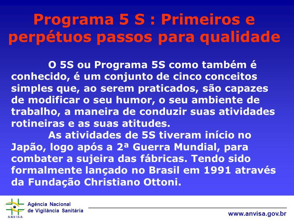 Agência Nacional de Vigilância Sanitária 5S 5S 5S