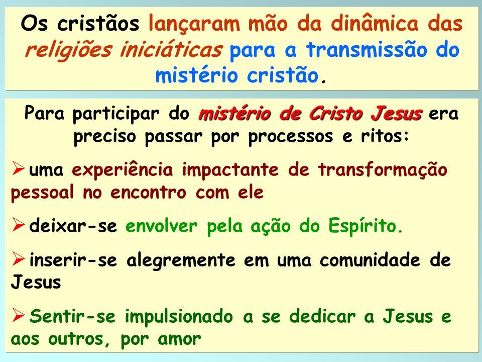 12 mistério de Cristo Jesus Para participar do mistério de Cristo Jesus era preciso passar por processos e ritos: uma experiência impactante de transf