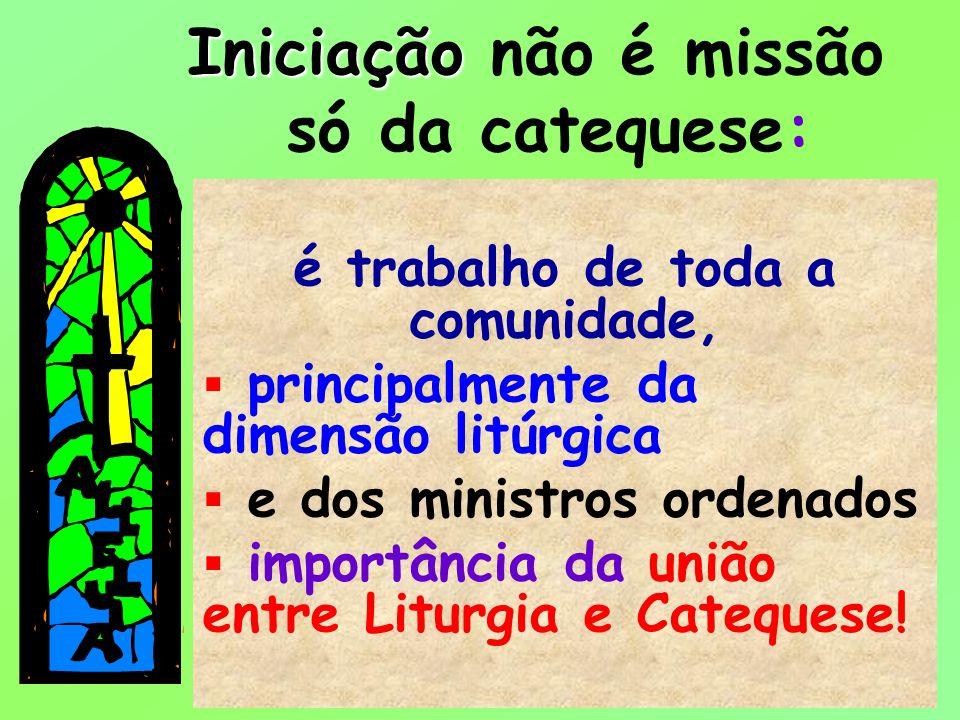 18 é trabalho de toda a comunidade, principalmente da dimensão litúrgica e dos ministros ordenados importância da união entre Liturgia e Catequese! In