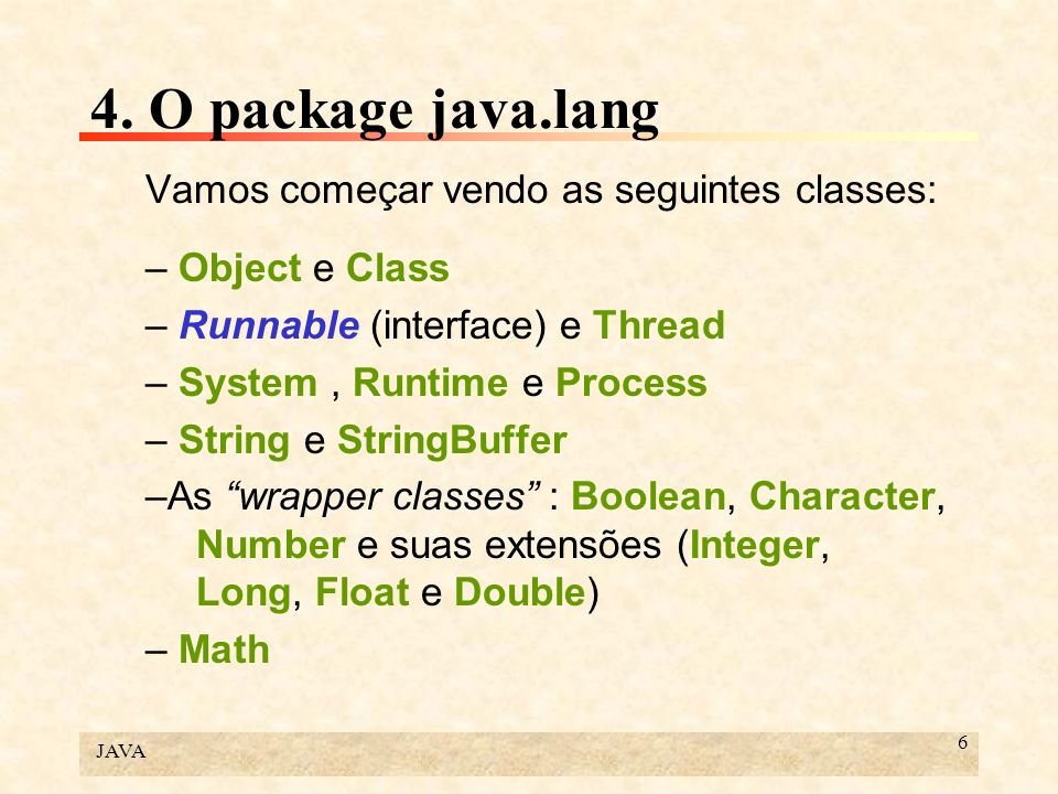 JAVA 87 6.Programação multitarefa Os intervalos fechados representam a execução das instruções.