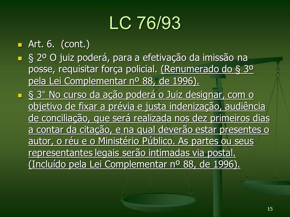 LC 76/93 Art.6. (cont.) Art. 6.