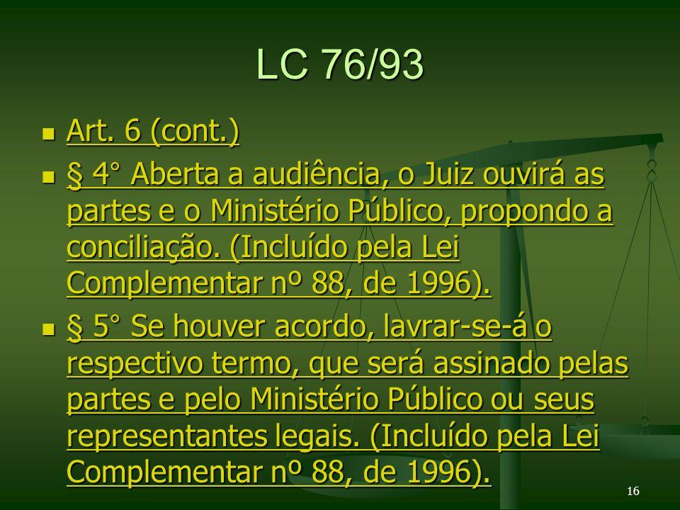LC 76/93 Art.6 (cont.) Art. 6 (cont.) Art. 6 (cont.) Art.