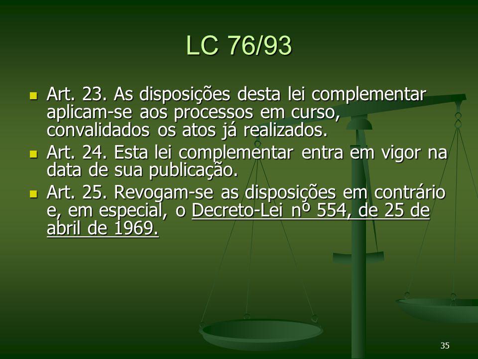LC 76/93 Art.23.