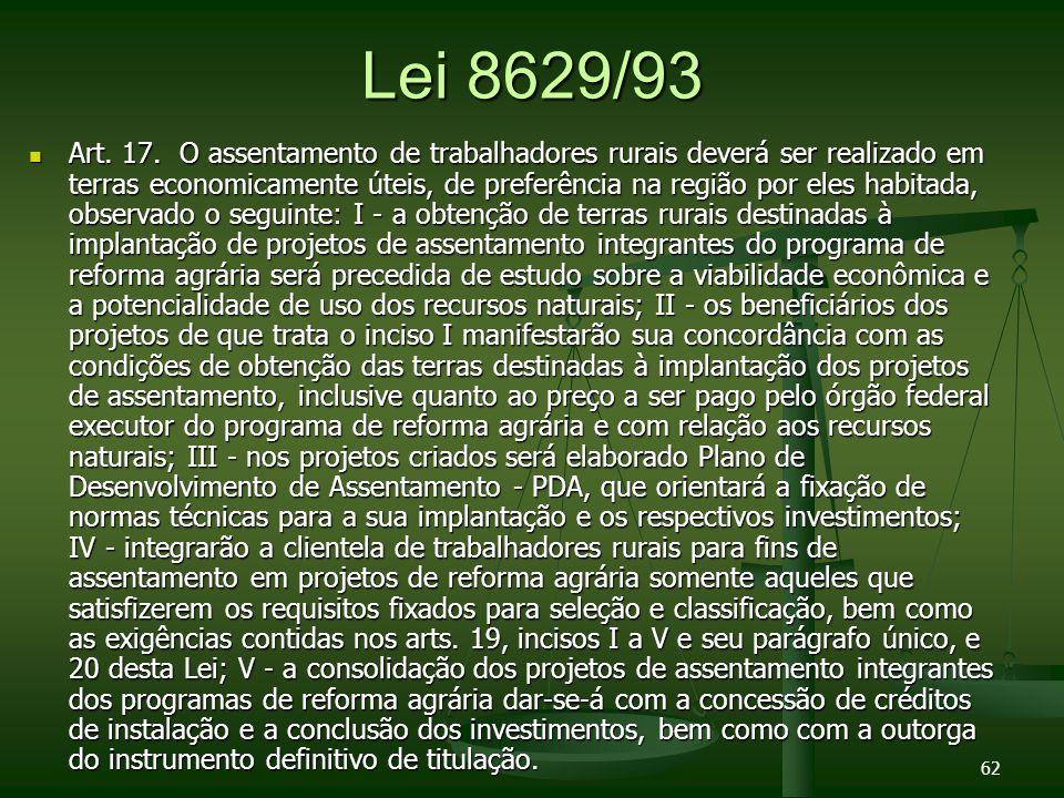 Lei 8629/93 Art.17.