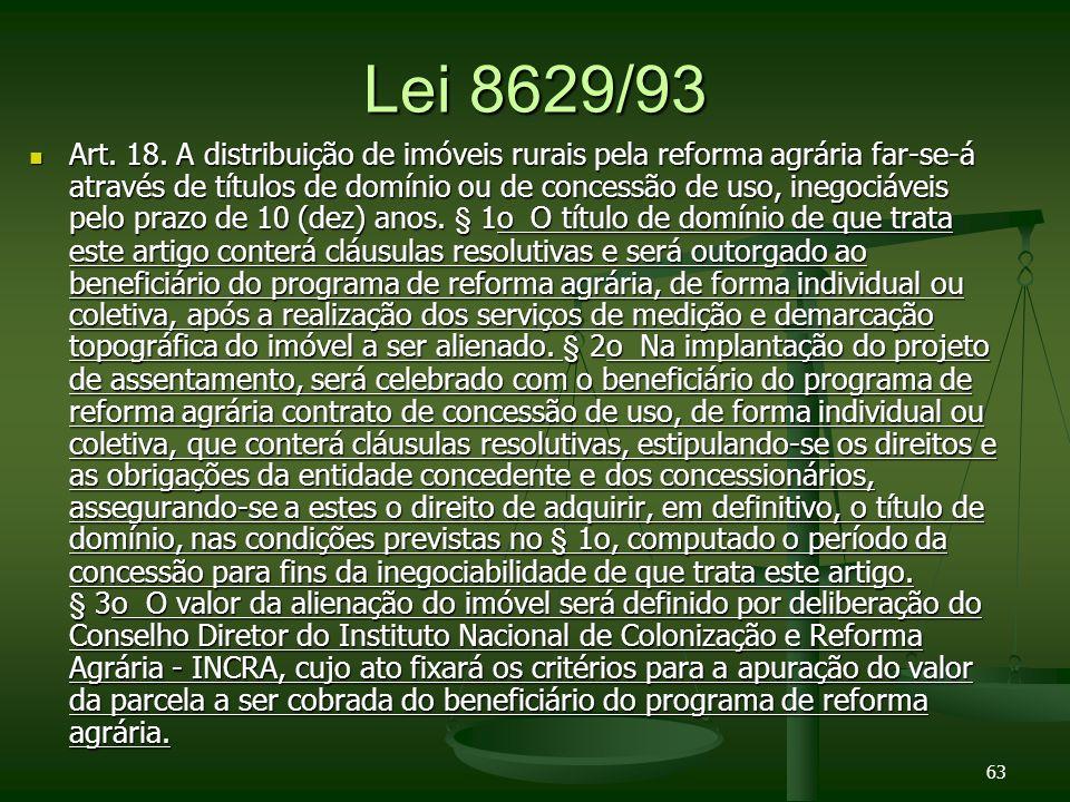 Lei 8629/93 Art.18.