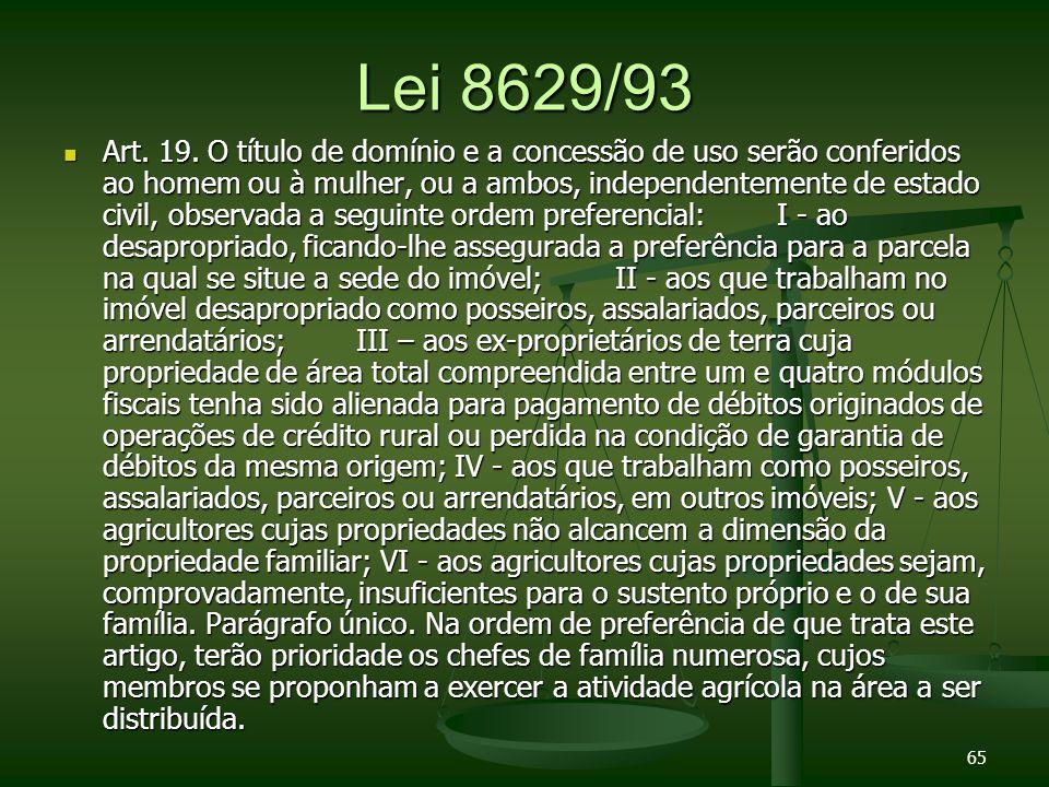 Lei 8629/93 Art.19.