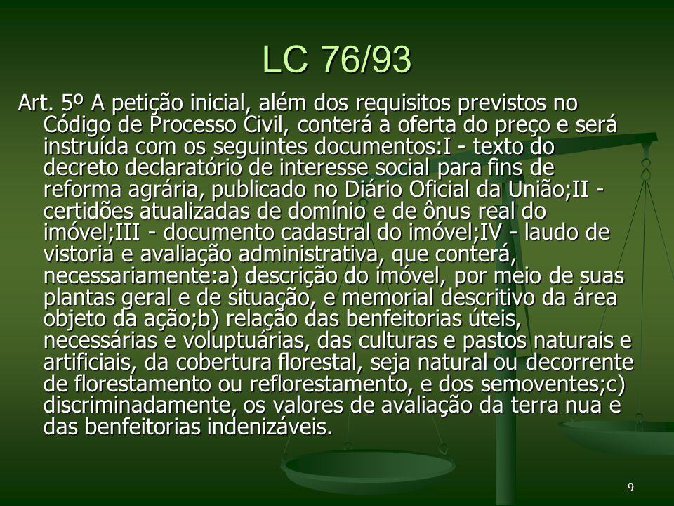 Lei 8629/93 Jurisprudencia STF: Jurisprudencia STF: O esbulho possessório que impede a desapropriação [art.