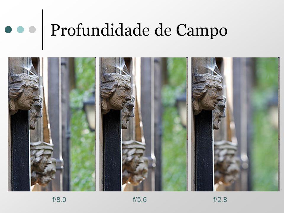 Profundidade de Campo f/8.0f/5.6f/2.8
