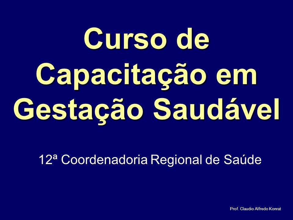 Curso de Capacitação em Gestação Saudável 12ª Coordenadoria Regional de Saúde Prof.