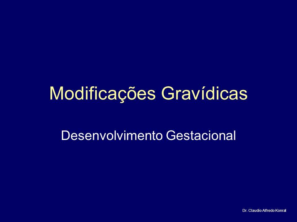 Modificações Gravídicas Desenvolvimento Gestacional Dr. Claudio Alfredo Konrat