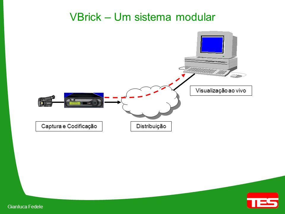 Gianluca Fedele VBrick – Um sistema modular Visualização ao vivo Distribuição Captura e Codificação