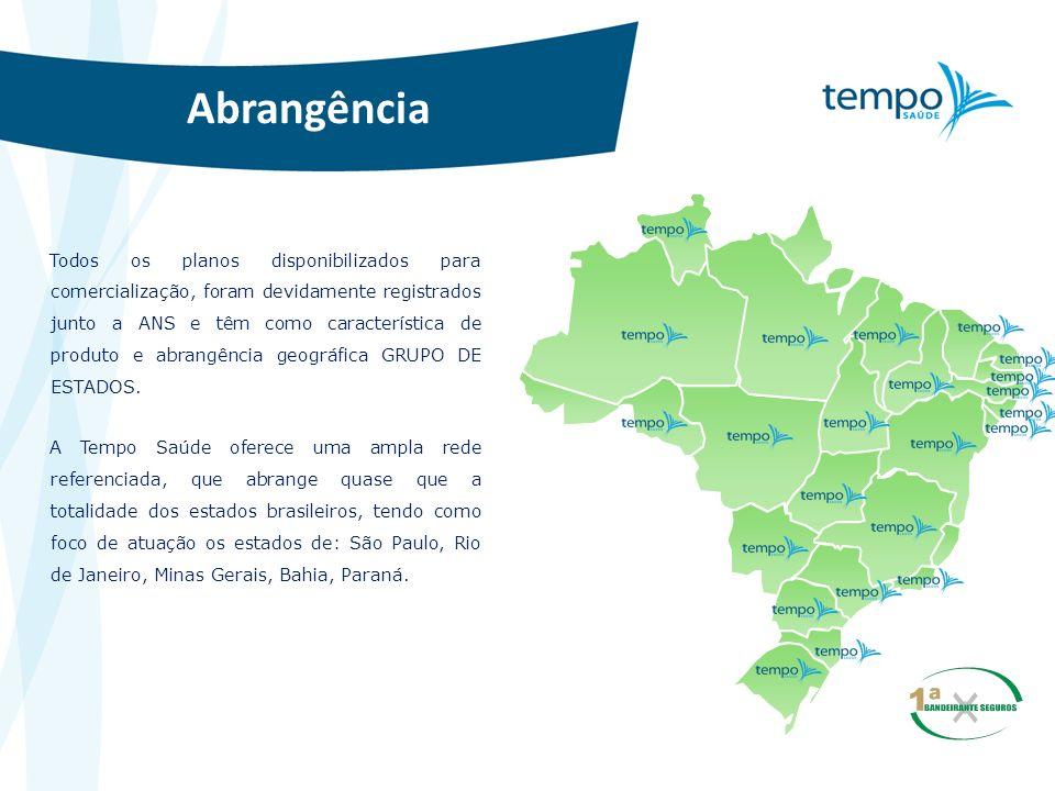 Abrangência Todos os planos disponibilizados para comercialização, foram devidamente registrados junto a ANS e têm como característica de produto e ab