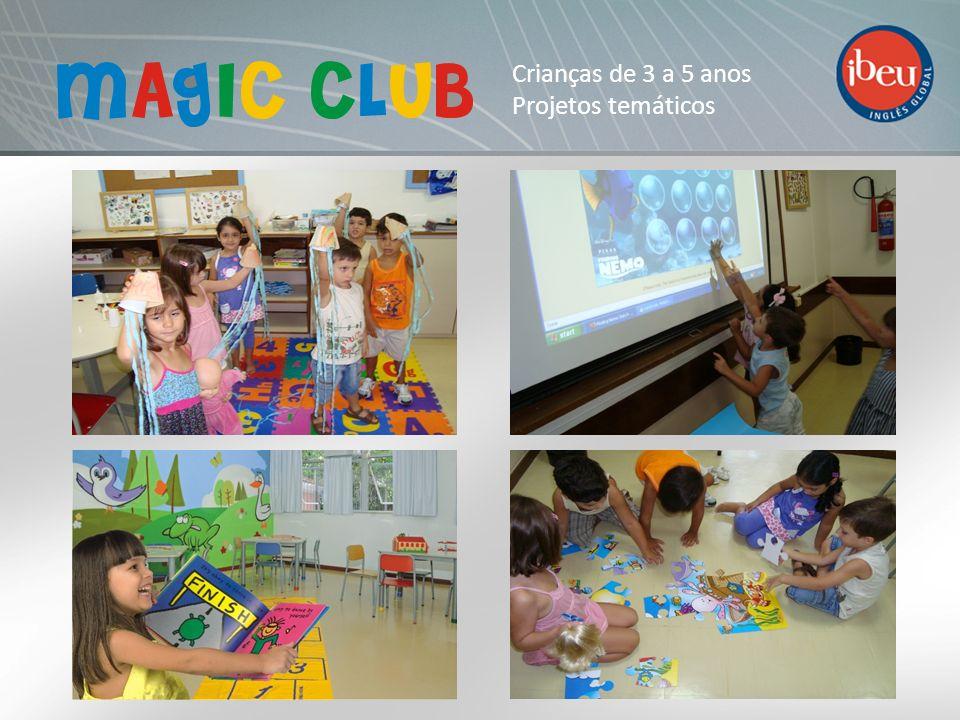 POP KIDS Duração: 1 ou 2 módulos Objetivos: Atividades lúdicas que levam a criança ao uso da língua inglesa num ambiente totalmente voltado para as atividades interativas.