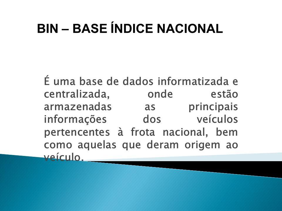 É uma base de dados informatizada e centralizada, onde estão armazenadas as principais informações dos veículos pertencentes à frota nacional, bem com