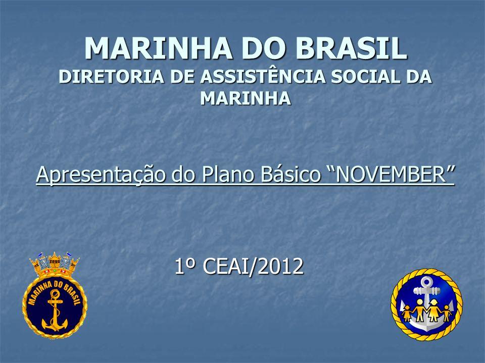 MARINHA DO BRASIL DIRETORIA DE ASSISTÊNCIA SOCIAL DA MARINHA Apresentação do Plano Básico NOVEMBER 1º CEAI/2012